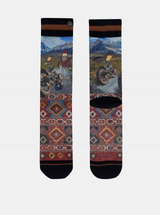 Modro-červené pánske ponožky XPOOOS pánské červená 43-46