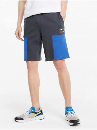 Modro-šedé pánske kraťasy Puma Clsx Shorts TR pánské tmavosivá L