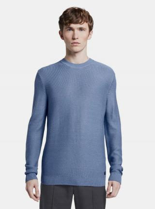 Modrý pánsky basic sveter Tom Tailor Denim pánské modrá M