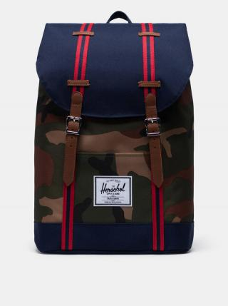 Modrý vzorovaný batoh Herschel Supply pánské modrá