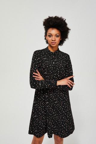 Moodo čierne košeľové šaty - XXL dámské čierna XXL