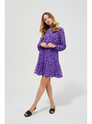 Moodo fialové šaty s drobným vzorem dámské fialová L