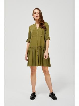 Moodo khaki košeľové šaty dámské kaki L