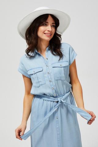 Moodo modré košeľové šaty - XS dámské modrá XS