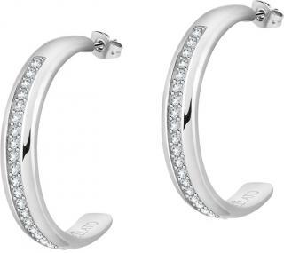 Morellato Oceľové náušnice kruhy s kryštálmi Cerchi SAKM70 dámské
