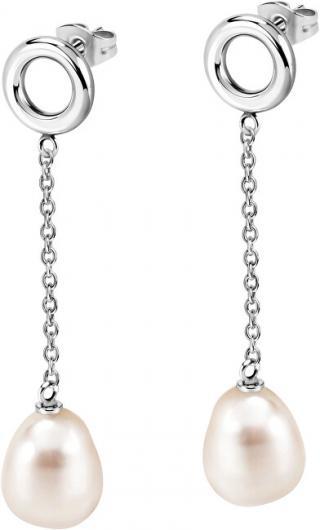 Morellato Oceľové náušnice s pravou perlou Oriente SARI12 dámské