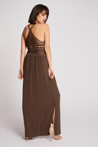 Morgan - Šaty dámské hnedá XS