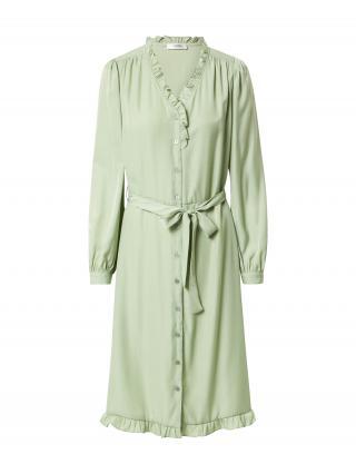 MOSS COPENHAGEN Košeľové šaty Elysse  mätová dámské 34
