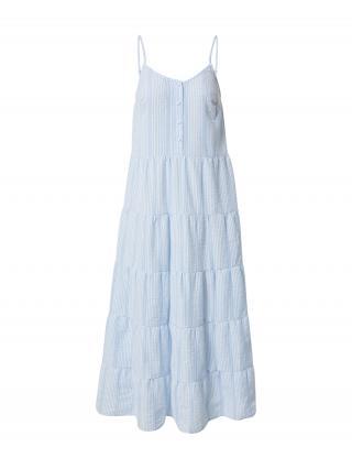 MOSS COPENHAGEN Letné šaty Pamina  svetlomodrá / biela dámské 34