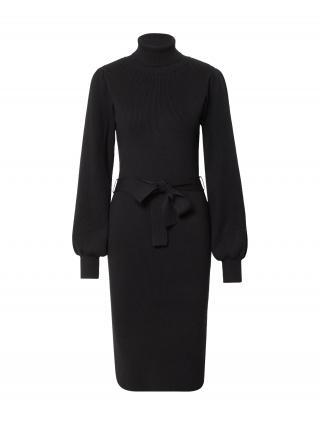 MOSS COPENHAGEN Pletené šaty Philina  čierna dámské XS