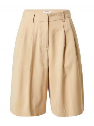 MOSS COPENHAGEN Plisované nohavice Selia  piesková dámské 34