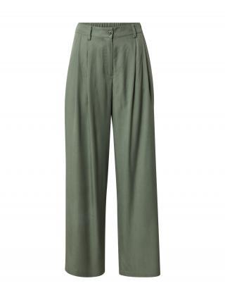 MOSS COPENHAGEN Plisované nohavice  zelená dámské 34