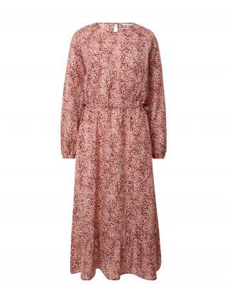 MOSS COPENHAGEN Šaty Ailisa  ružová / vínovo červená / biela dámské 34
