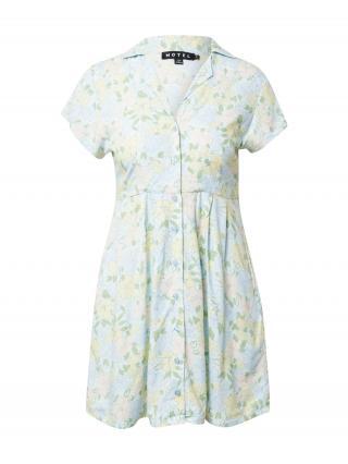 Motel Košeľové šaty ARTE  svetlomodrá / ružová / svetložltá / svetlozelená dámské 32