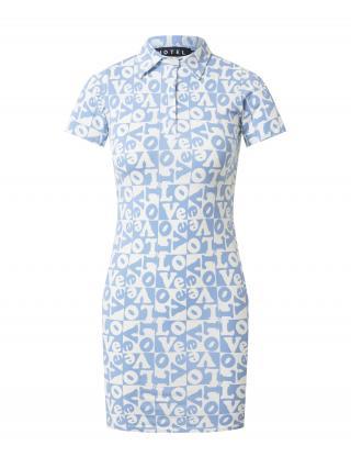 Motel Košeľové šaty JEEVES  svetlomodrá / biela dámské 32