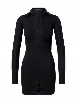 Motel Košeľové šaty LUIZA  čierna dámské 32