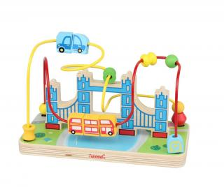 Motorická hračka s aktivitami London Bridge Pestrofarebná