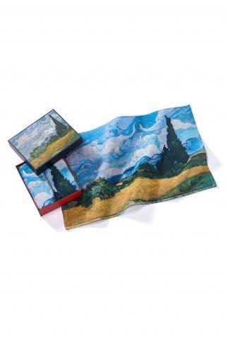 MuseARTa - Uterák Vincent van Gogh - Wheatfield with Cypresses  viacfarebná 40cm x 60cm