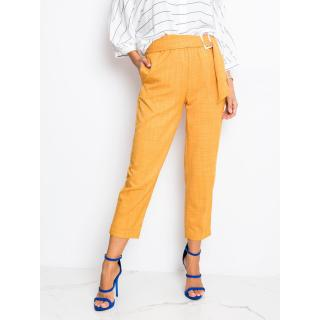Mustard women´s pants from RUE PARIS dámské Neurčeno 34