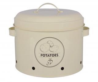 Nádoba s vekom Galu Potatoes 6.325 L Krémová