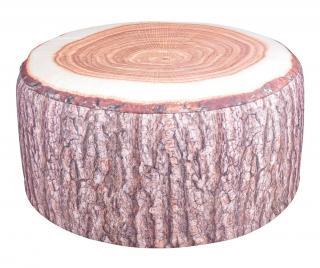 Nafukovací sedací puf Tree Trunk Hnedá