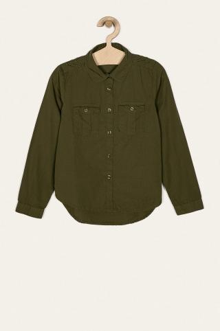 Name it - Detská košeľa 116-164 cm zelená 134-140