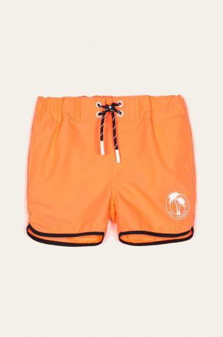 Name it - Detské plavkové šortky 110-152 cm oranžová 116