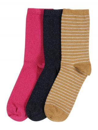 NAME IT Ponožky  zmiešané farby / tmavomodrá / svetlohnedá / ružová / biela pánské 19/21