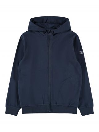 NAME IT Tepláková bunda  námornícka modrá / biela pánské 116