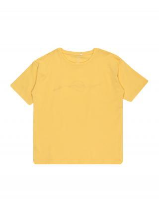 NAME IT Tričko BAYAN  limetková / zlatá žltá dámské 116