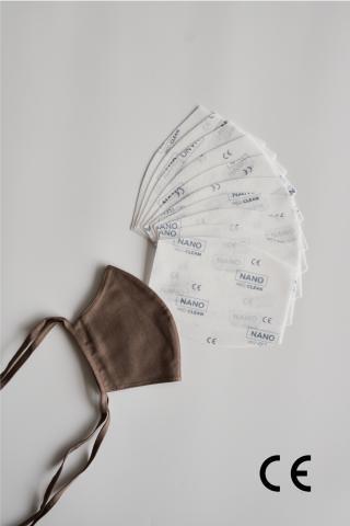 NANO MED.CLEAN rouška maska   10x NANO MED.CLEAN  filtr - XBV11/hnedá / L/XL f00015-11