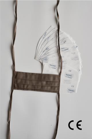 NANO MED.CLEAN Rouška skládaná   10x NANO MED.CLEAN  filtr - B11/hnedá f00016-11