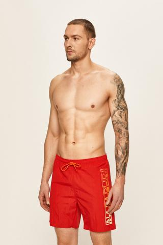 Napapijri - Plavkové šortky pánské červená L