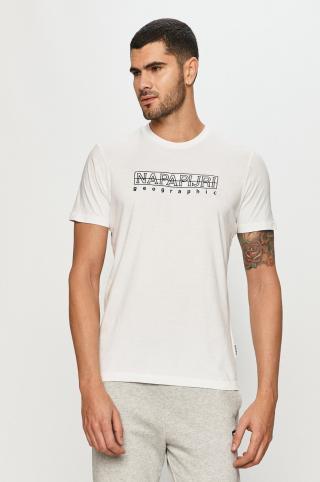 Napapijri - Tričko pánské biela M