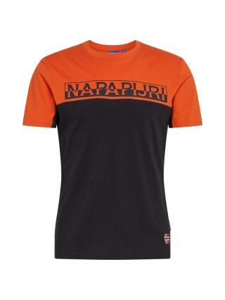 NAPAPIJRI Tričko S-ICE SS CB  čierna / oranžová pánské S
