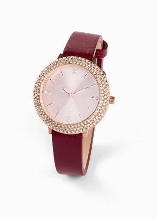 Náramkové hodinky dámské červená