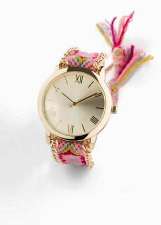Náramkové hodinky dámské ružová