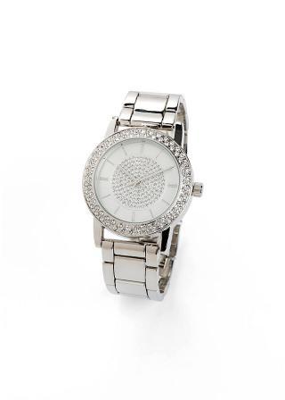 Náramkové hodinky so Swarovski® krištáľmi dámské strieborná