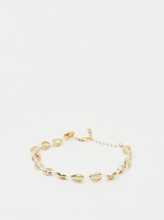 Náramok v zlatej farbe na členok Pieces Nella dámské zlatá