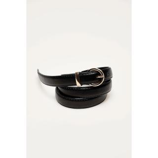 Narrow eco leather belt - black dámské Other S