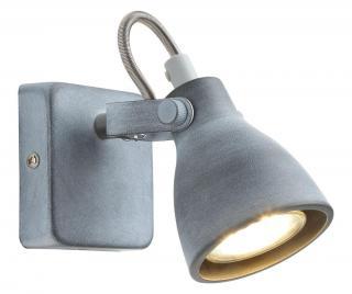 Nástenná lampa Ash Sivá & Striebristá