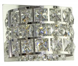 Nástenná lampa Saturn Sivá & Striebristá