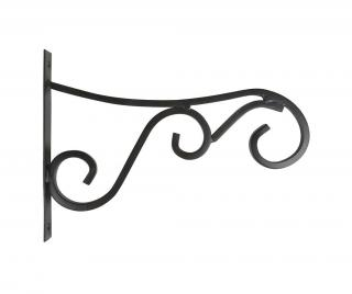 Nástenný držiak na kvetináč Curly L Čierna L
