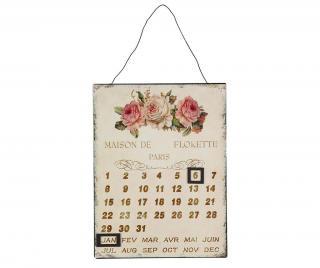 Nástěnný kalendář Rose Krémová