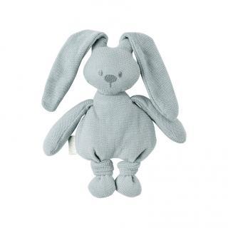 NATTOU Hračka pletená bavlnená zajačik Lapidou cuddly green 36 cm