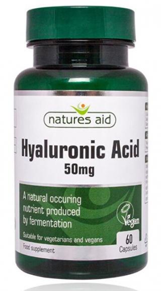 Natures Aid Hyaluronát sodný 50 mg - 60 kapslí - na kĺby