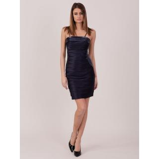 Navy blue dress with sequin inserts dámské Neurčeno 42