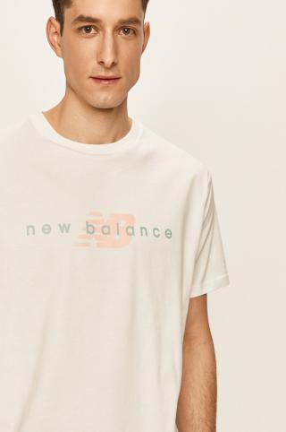 New Balance - Tričko pánské biela S