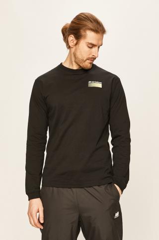 New Balance - Tričko s dlhým rúkavom pánské čierna S