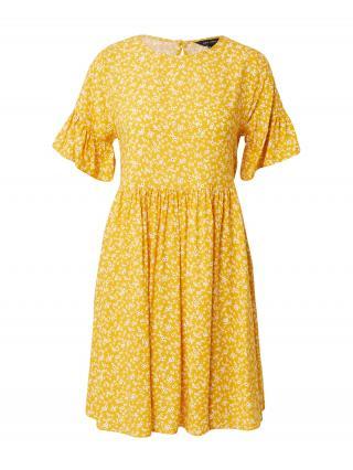 NEW LOOK Šaty  svetlooranžová / biela / tmavomodrá dámské 34
